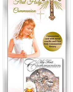 communion boxed card-girl-rosary