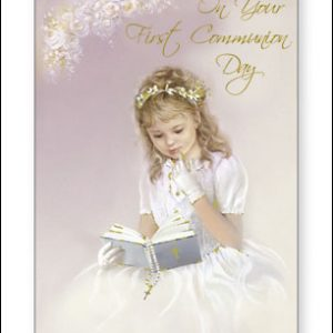 communion card-girl