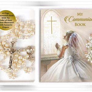 communion pearl rosary-girl prayer book