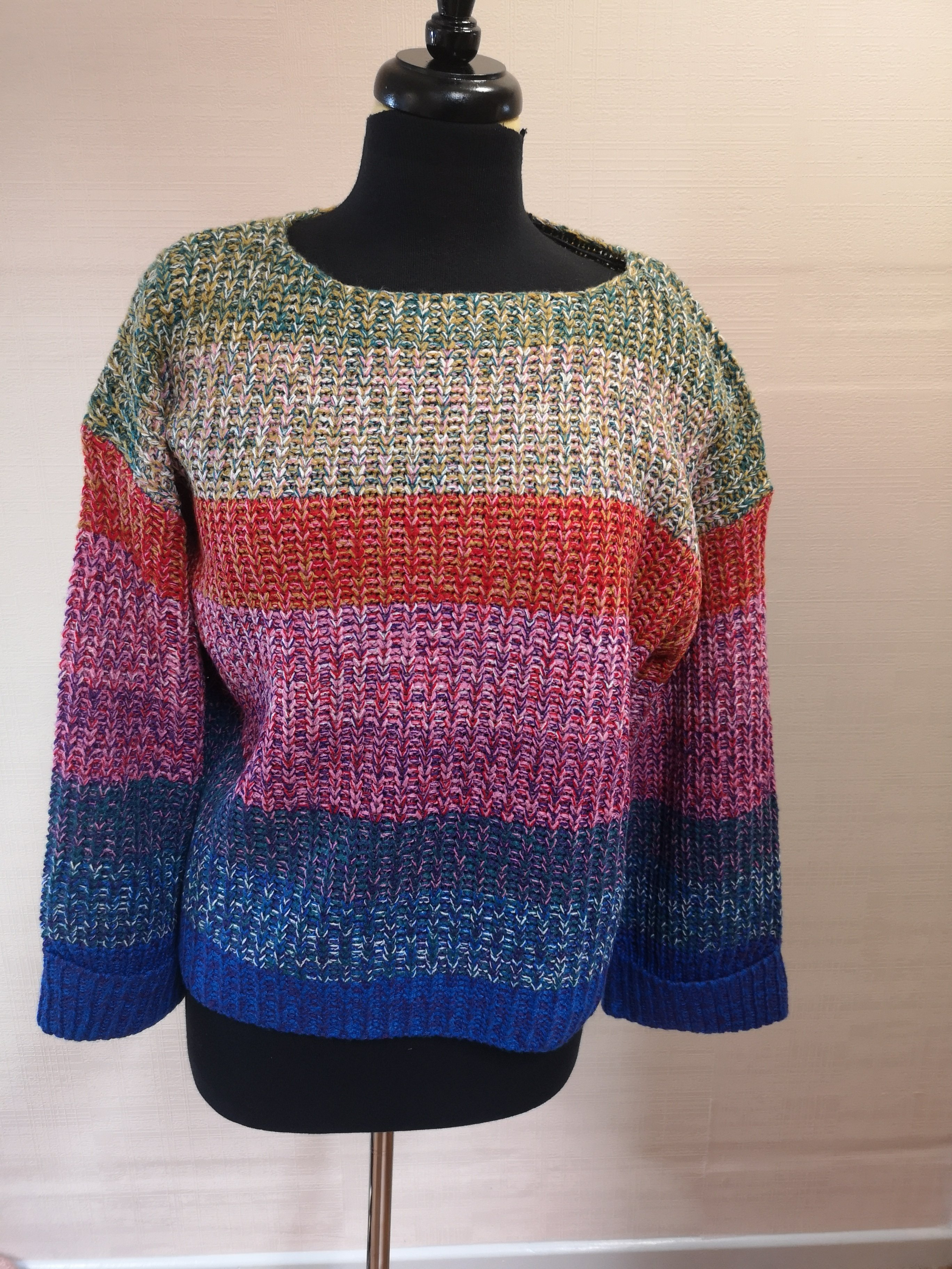 0411b0f891d Rainbow stripe crop jumper
